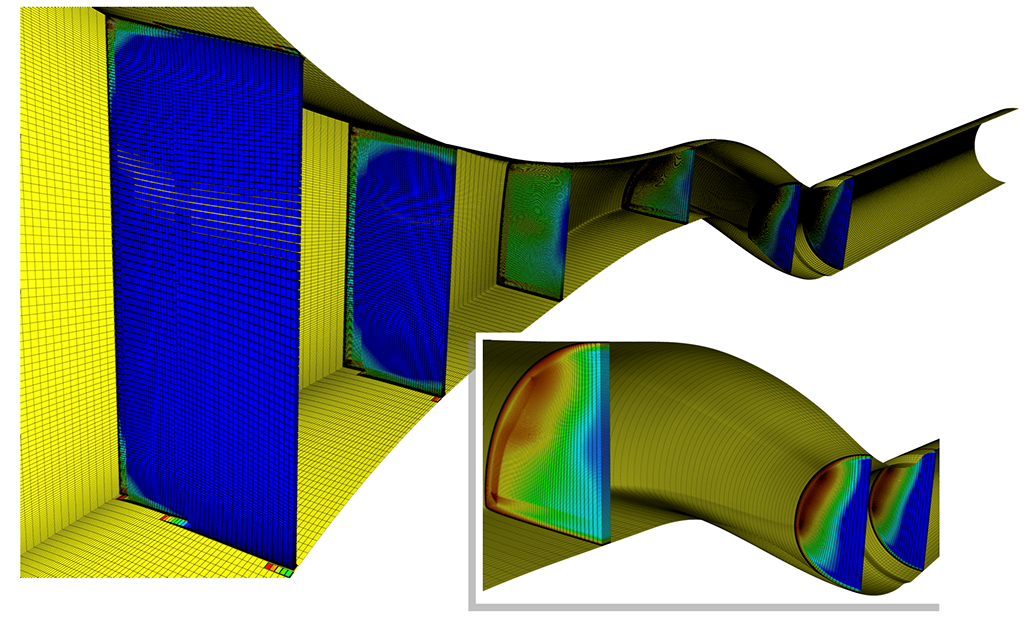 Multi-block Grids for an S–Duct