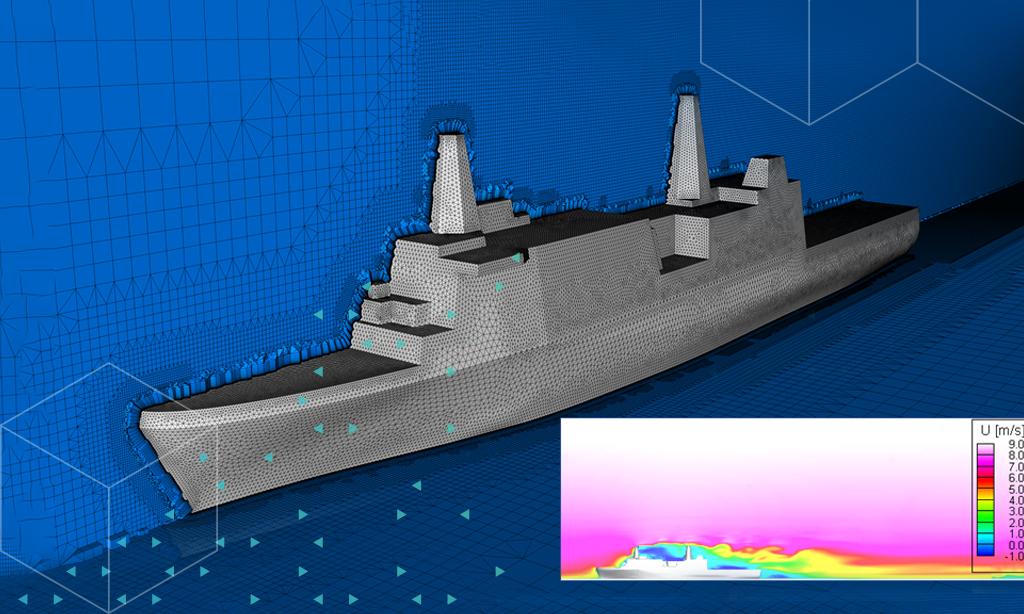 Efficient Meshing Strategies for Ship Wake Simulation