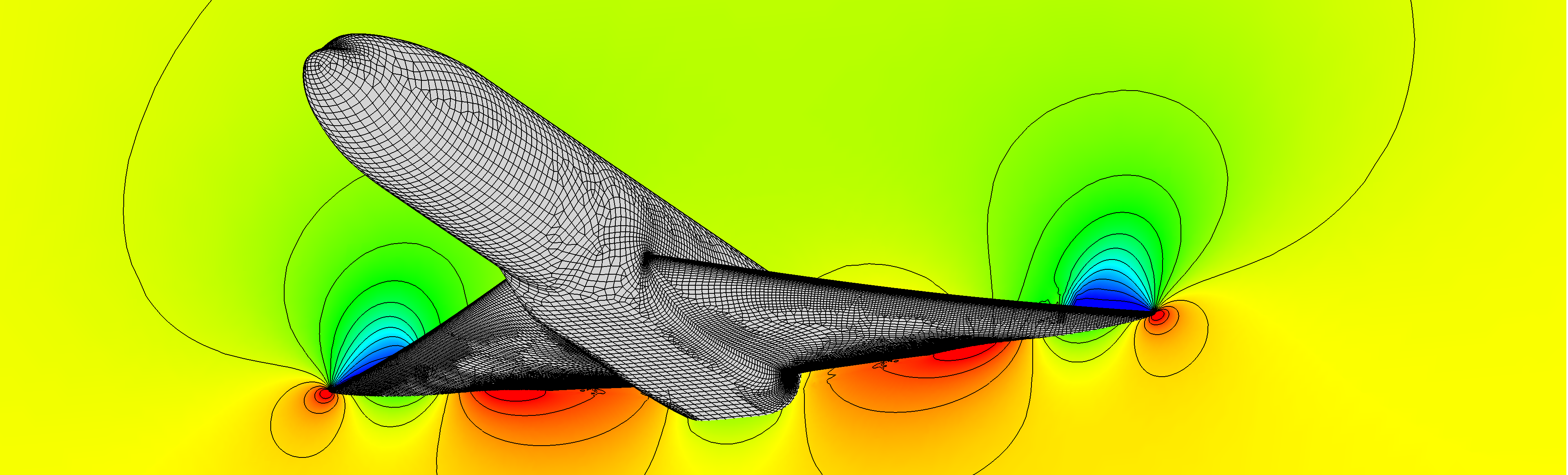 Mesh and Run a High-Fidelity Aircraft Simulation in Minutes